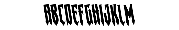 Gotharctica Rotated Font LOWERCASE