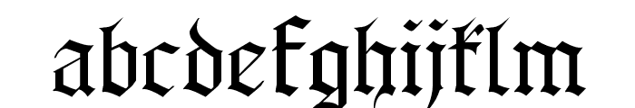 Gothenburg Fraktur Font LOWERCASE