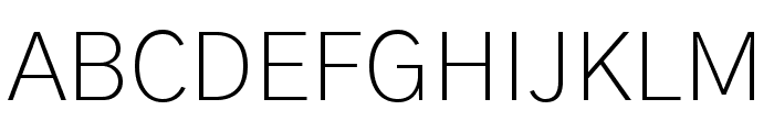 Gothic A1 ExtraLight Font UPPERCASE