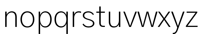 Gothic A1 ExtraLight Font LOWERCASE