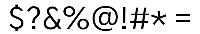 Gothic A1 Regular Font OTHER CHARS