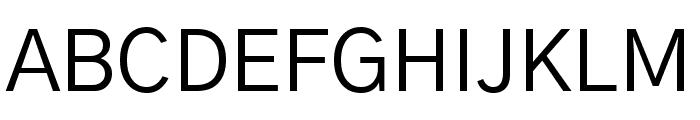 Gothic A1 Regular Font UPPERCASE