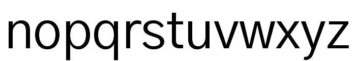 Gothic A1 Regular Font LOWERCASE