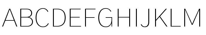 Gothic A1 Thin Font UPPERCASE