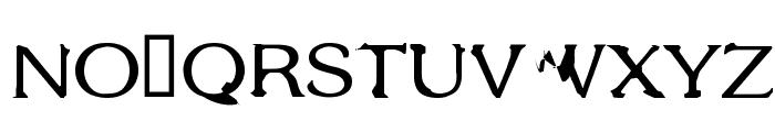 Gothic Alarm Clock Font UPPERCASE