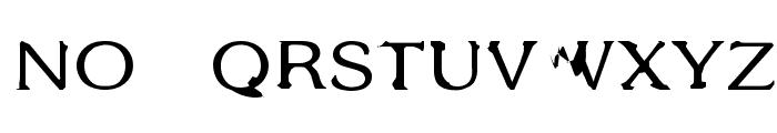 Gothic Alarm Clock Font LOWERCASE