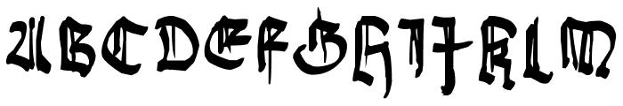 Gothic Bozo Font UPPERCASE