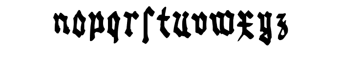 Gothic Bozo Font LOWERCASE