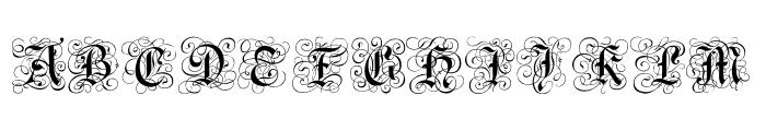 Gothic Caps Font UPPERCASE