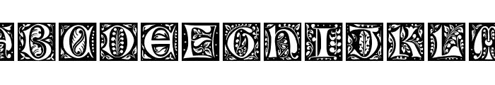 Gothic-Leaf Font UPPERCASE