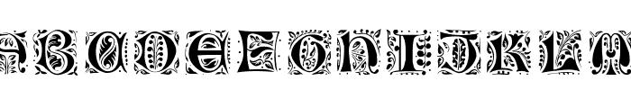 Gothic-Leaf Font LOWERCASE