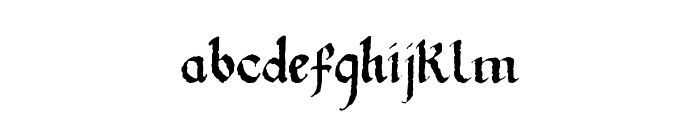 Gothic Ultra Trendy Font LOWERCASE