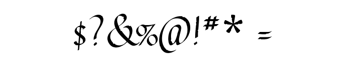 Gothic Ultra Font OTHER CHARS