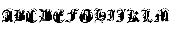 Gothic Winter Font UPPERCASE