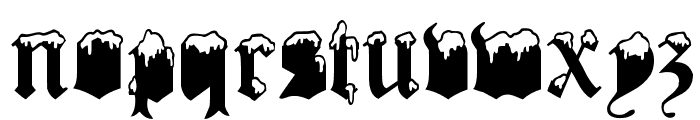Gothic Winter Font LOWERCASE