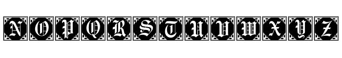 GothicCornerCaps Font LOWERCASE