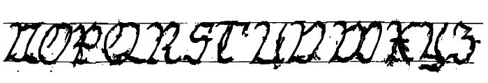 GothicHandDirty Bold Font UPPERCASE