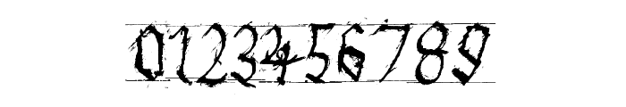 GothicHandDirty Font OTHER CHARS