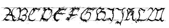 GothicHandDirty Font UPPERCASE