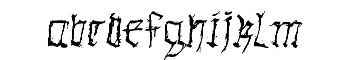 GothicHandDirty Font LOWERCASE