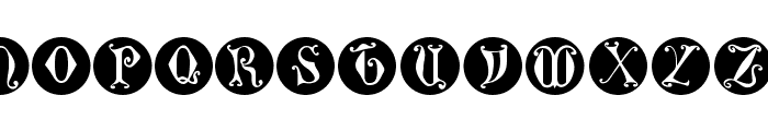 GothicLetters Font UPPERCASE