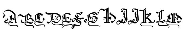 GothicMajuscles Font UPPERCASE