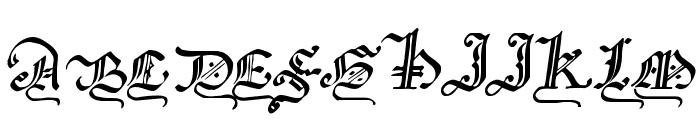 GothicMajuscles Font LOWERCASE