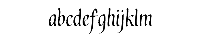 GothicUltraOT Font LOWERCASE
