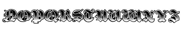 Gothik Steel Font UPPERCASE