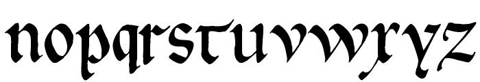 GoticaBastard Font LOWERCASE