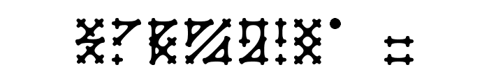 Gotika Apvalus Font OTHER CHARS