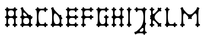 Gotika Apvalus Font UPPERCASE