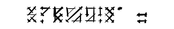 Gotika Brokas Font OTHER CHARS