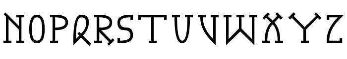 Gotika Serifai B Font UPPERCASE