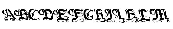 Gotique Font UPPERCASE