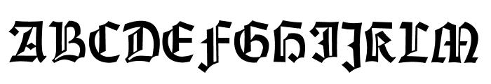 Gotisch Weiss UNZ1A Font UPPERCASE