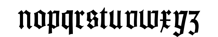 Gotisch Weiss UNZ1A Font LOWERCASE
