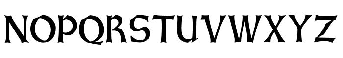 GotischWeissUNZ1A-Italic Font UPPERCASE