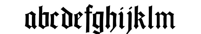 GotischWeissUNZ1A-Italic Font LOWERCASE
