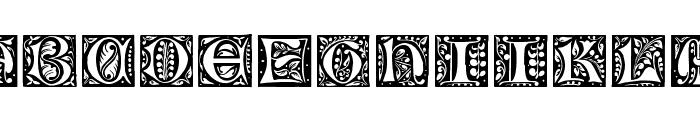 Gotische Initialen Font UPPERCASE