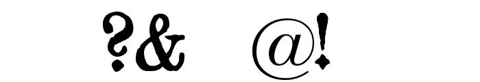 Gotyk Poszarpany Font OTHER CHARS