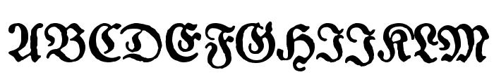 Gotyk Poszarpany Font UPPERCASE