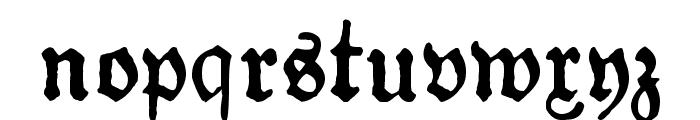 Gotyk Poszarpany Font LOWERCASE