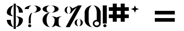 Goud Regular Font OTHER CHARS