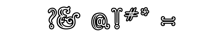 Goudy Decor InitialC Font OTHER CHARS