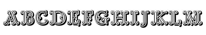 Goudy Decor ShodwnC Font UPPERCASE