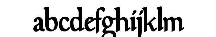 Goudy Mediaeval DemiBold Font LOWERCASE