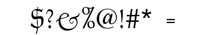 Goudy Thirty Light Font OTHER CHARS