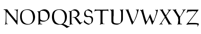Goudy Thirty Light Font UPPERCASE