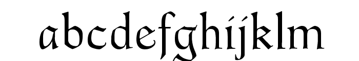 Goudy Thirty Light Font LOWERCASE
